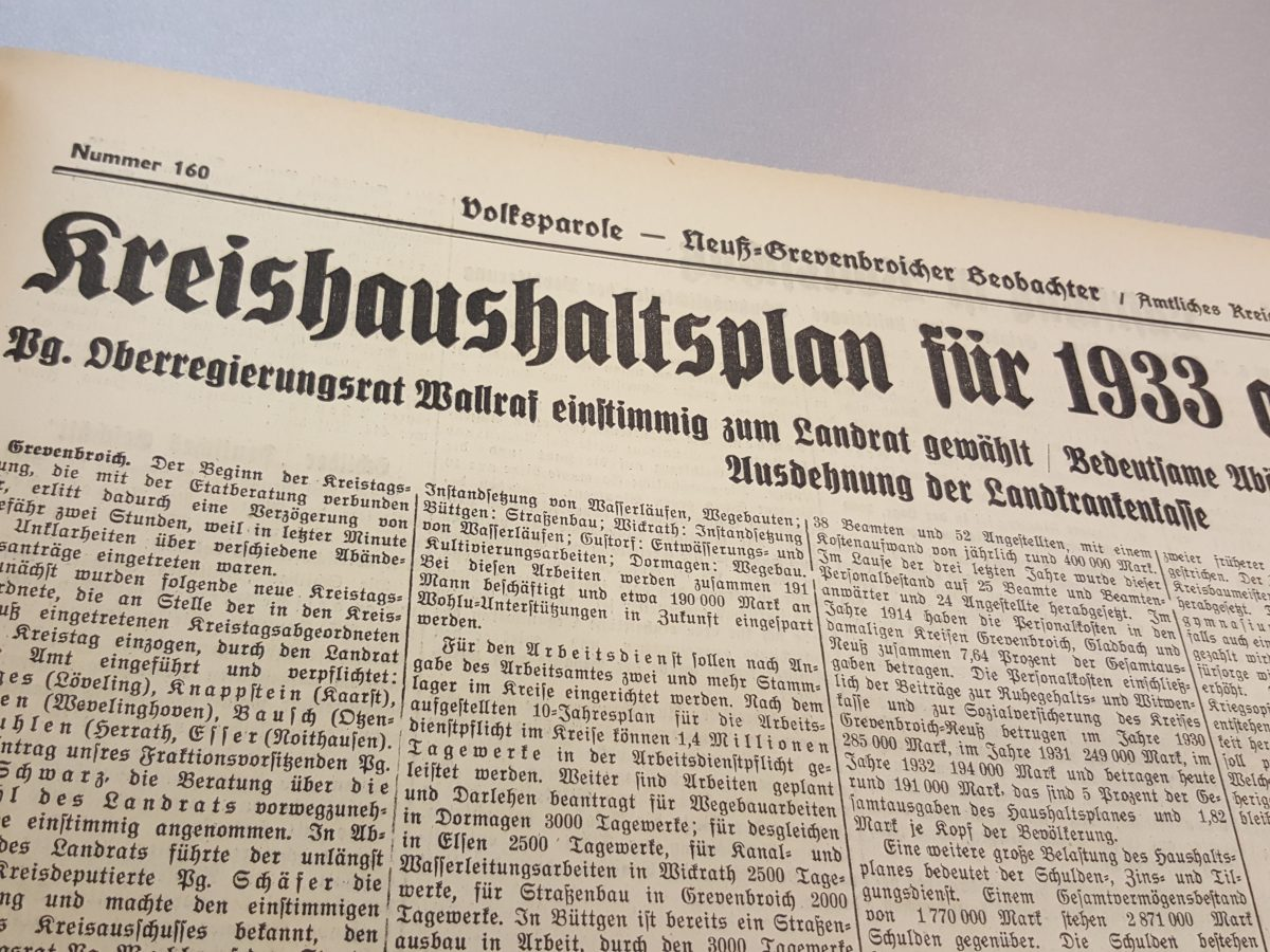 Online Gespräch – Max Wallfraf (Landrat 1933-1945)